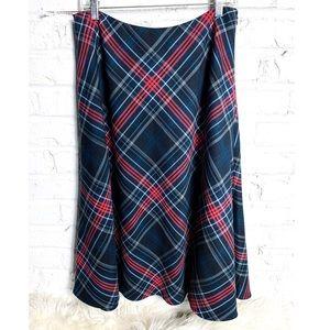 Evan-Picone Tarten Plaid Midi Skirt